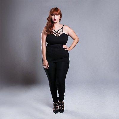 Blusa Alça Strappy - Plus Size