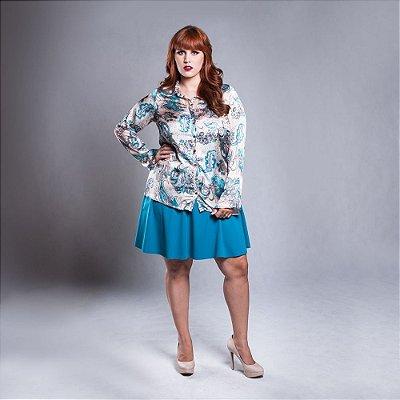 Camisa Print Paisley - Plus Size