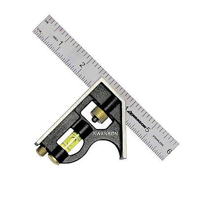 Esquadro combinado métrico - SWANSON - 15cm