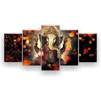 Quadro Decorativo Lord Ganesha Hd 129x61 Quarto Sala