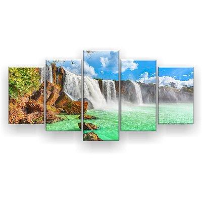 Quadro Decorativo Cachoeira Hd 129x61 Quarto Sala