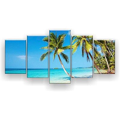 Quadro Decorativo Praia 129x61 5pc Sala