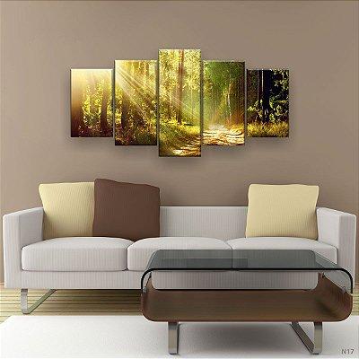 Quadro Decorativo Caminho na Floresta 129x61 5pc Sala