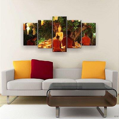 Quadro Decorativo Buda Dourado 129x61 5pc Sala