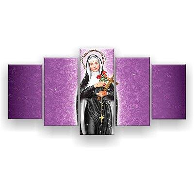 Quadro Decorativo Santa Rita 129x61 5pc Sala