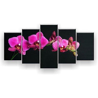 Quadro Decorativo Orquídeas Pink 129x61 5pc Sala