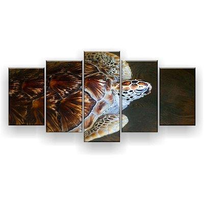 Quadro Decorativo Tartarugas Marinhas 129x61 5pc Sala