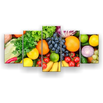 Quadro Decorativo Frutas E Legumes 129x61 5pc Sala