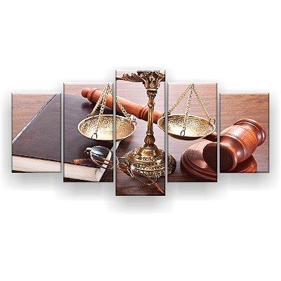 Quadro Decorativo Direito Advocacia 129x61 5pc Sala