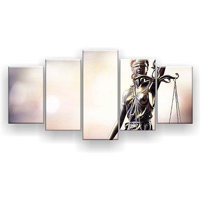 Quadro Decorativo Estátua Da Justiça 129x61 5pc Sala
