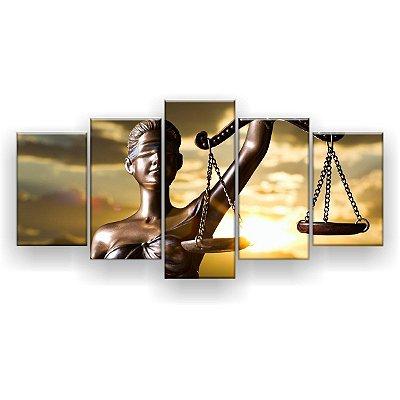 Quadro Decorativo Justiça 129x61 5pc Sala
