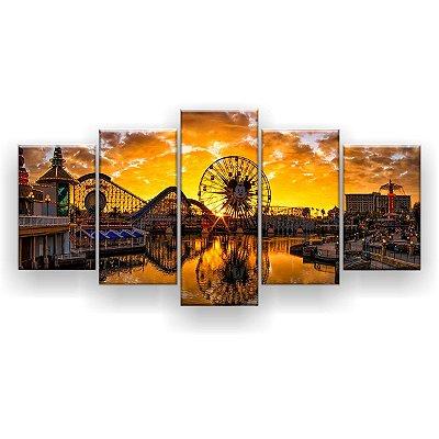 Quadro Decorativo Disney Parque 129x61 5pc Sala