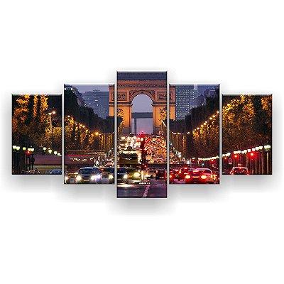 Quadro Decorativo Paris Champs Elysées 129x61 5pc Sala