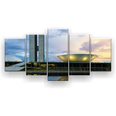 Quadro Decorativo Congresso Nacional 129x61 5pc Sala