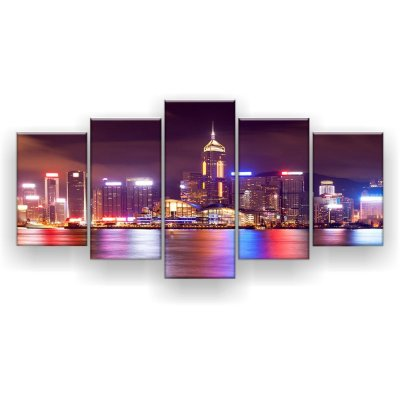 Quadro Decorativo Hong Kong 129x61 5pc Sala