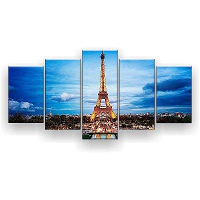Quadro Decorativo Torre Eiffel Paris 129x61 5pc Sala