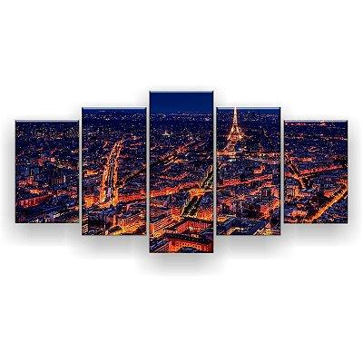 Quadro Decorativo Paris Hot 129x61 5pc Sala