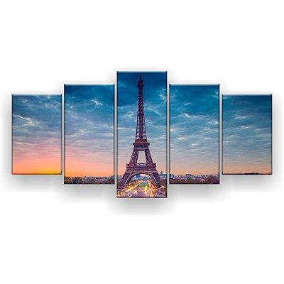 Quadro Decorativo Paris Elétrica 129x61 5pc Sala