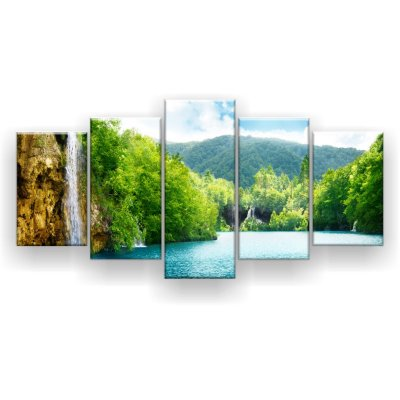 Quadro Decorativo Cachoeira Na Floresta 129x61 5pc Sala