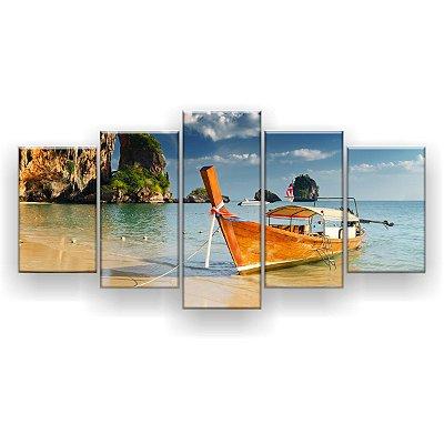 Quadro Decorativo Tailândia 129x61 5pc Sala