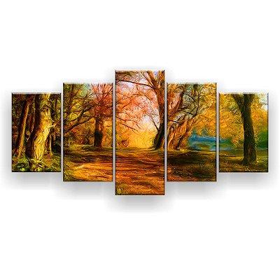 Quadro Decorativo Cores Da Natureza 129x61 5pc Sala