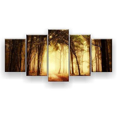 Quadro Decorativo Estrada Pela Floresta 129x61 5pc Sala