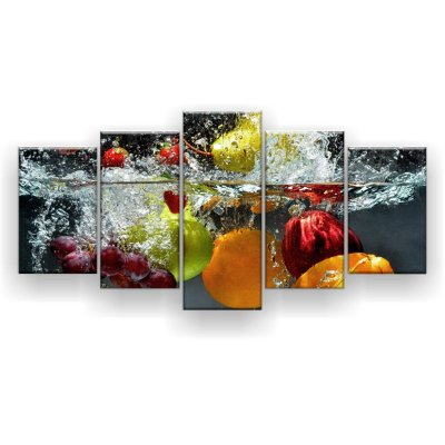 Quadro Decorativo Frutas Mergulhadas 129x61 5pc Sala