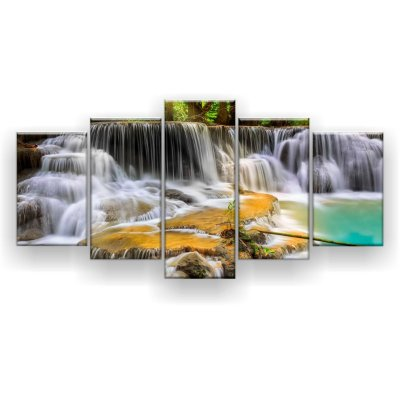 Quadro Decorativo Erawan Cachoeira 129x61 5pc Sala