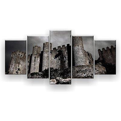 Quadro Decorativo Castelo Misterioso 129x61 5pc Sala