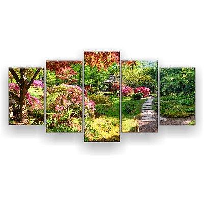 Quadro Decorativo Fundo Da Natureza 129x61 5pc Sala