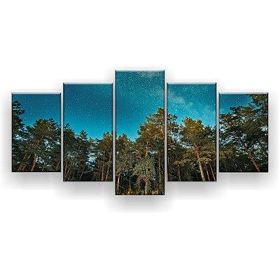 Quadro Decorativo Parque Das Árvores 129x61 5pc Sala