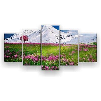 Quadro Decorativo Campo De Flores 129x61 5pc Sala