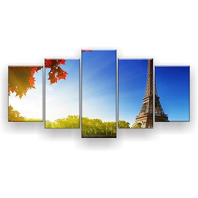 Quadro Decorativo Outono Em Paris 129x61 5pc Sala