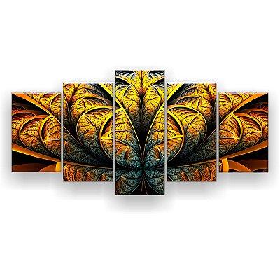 Quadro Decorativo Mandala Gold 129x61 5pc Sala