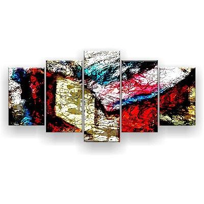 Quadro Decorativo Textura Hippie 129x61 5pc Sala