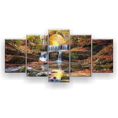 Quadro Decorativo Cachoeira Na Mata 129x61 5pc Sala