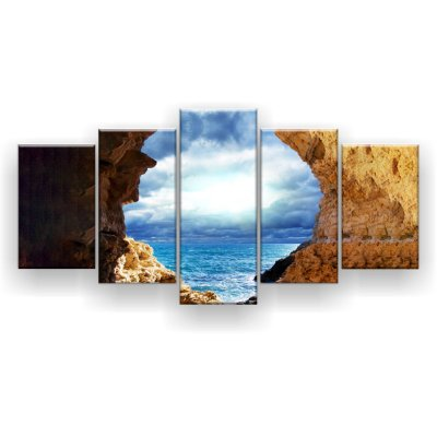 Quadro Decorativo Tempestade No Mar 129x61 5pc Sala
