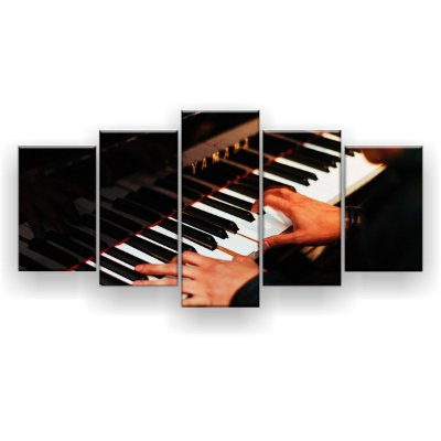 Quadro Decorativo Piano 129x61 5pc Sala