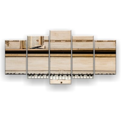 Quadro Decorativo Piano Marfim 129x61 5pc Sala