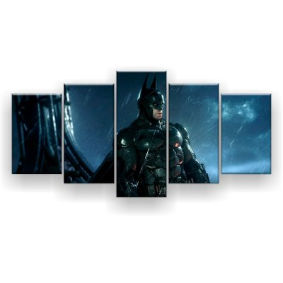 Quadro Decorativo Batman Perfil 129x61 5pc Sala