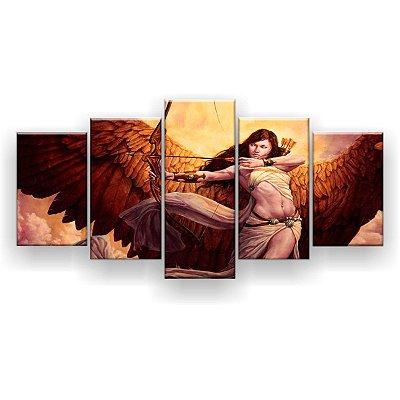 Quadro Decorativo Anjo Flecha 129x61 5pc Sala