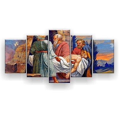 Quadro Decorativo Túmulo De Jesus 129x61 5pc Sala