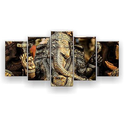 Quadro Decorativo Hindu Ganesha 129x61 5pc Sala