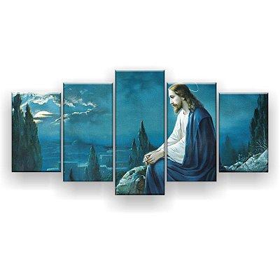 Quadro Decorativo Oração De Jesus 129x61 5pc Sala