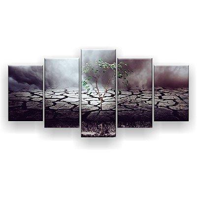 Quadro Decorativo Árvore Enraizada Na Bíblia 129x61 5pc Sala