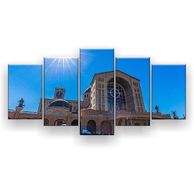 Quadro Decorativo Basílica Nossa Senhora De Aparecida 129x61 5pc Sala
