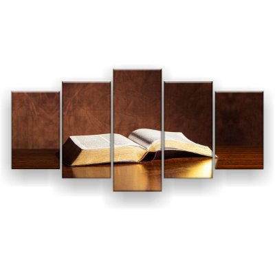 Quadro Decorativo Bíblia Sagrada 129x61 5pc Sala