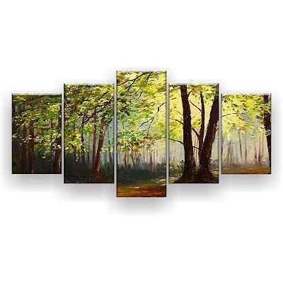 Quadro Decorativo Floresta De Verão 129x61 5pc Sala