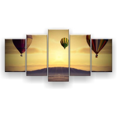 Quadro Decorativo Três Balões 129x61 5pc Sala