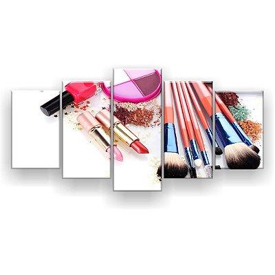 Quadro Decorativo Maquiagem Esmalte 129x61 5pc Sala